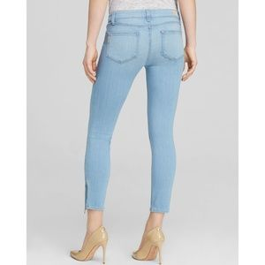 PAIGE Verdugo Crop Zip Jeans Light Wash Sz 25